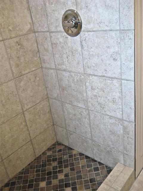 Dewitt 1 Walk In Shower Using 12 Inch Tile